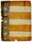 Struttura sporca della priorità bassa del documento della bandiera americana di Grunge Fotografia Stock Libera da Diritti