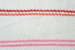 Struttura a strisce del tessuto Fotografia Stock