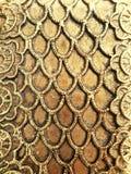 Struttura su metallo dorato per il progettista fotografia stock libera da diritti