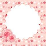 Struttura sveglia con Rose Flowers Vector Illustration Immagini Stock