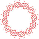 Struttura sveglia del confine del cerchio del fondo con i petali del fiore illustrazione vettoriale