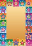 Struttura sveglia di simmetria del fronte del fiore della stella illustrazione vettoriale