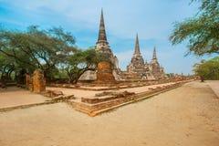 Struttura sviluppata, monumento, vecchia rovina, Asia, Ayuthaya immagini stock libere da diritti
