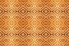 Struttura tessuta di bambù del modello dell'estratto per fondo illustrazione di stock
