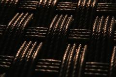 Struttura tessuta macro fondo Fotografie Stock