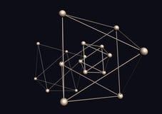 Struttura triangolare delle molecole Fotografie Stock Libere da Diritti
