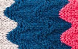Struttura tricottante variopinta del fondo. L'alta risoluzione tricotta la lana Fotografie Stock Libere da Diritti