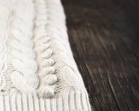 Struttura tricottata del tessuto Fotografia Stock