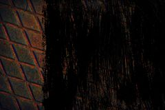 Struttura ultra arancio dell'acciaio inossidabile di lerciume, fondo del ferro per uso del progettista Immagine Stock