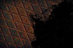 Struttura ultra arancio dell'acciaio inossidabile di lerciume, fondo del ferro per uso del progettista Immagini Stock Libere da Diritti