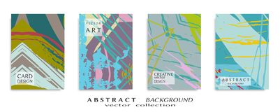 Struttura universale astratta di arte di lerciume, colpi della spazzola, insieme dello strato a4 fotografia stock libera da diritti