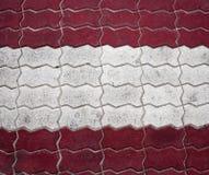 Struttura urbana del mattone bianco e rosso Fotografia Stock
