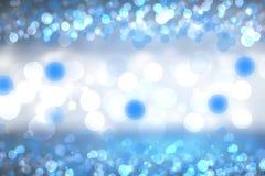 Struttura vaga brillante del fondo del turchese blu di pendenza dell'estratto con le luci circolari del bokeh Bello contesto Spaz fotografie stock