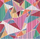 Struttura variopinta astratta del modello del fondo di Natale dei fiori del triangolo Fotografia Stock