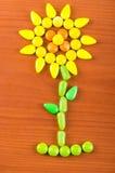 Struttura variopinta del caramello della caramella dei dolci Fotografia Stock