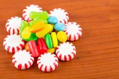 Struttura variopinta del caramello della caramella dei dolci Fotografie Stock Libere da Diritti