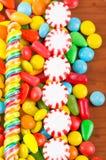 Struttura variopinta del caramello della caramella dei dolci Immagine Stock Libera da Diritti