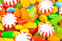 Struttura variopinta del caramello della caramella dei dolci Immagini Stock