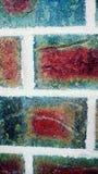Struttura variopinta del fondo del muro di mattoni Fotografia Stock Libera da Diritti