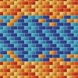Struttura variopinta del muro di mattoni per fondo Immagine Stock Libera da Diritti