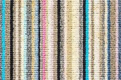 Struttura variopinta del tappeto per fondo Fotografia Stock