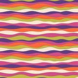 Struttura variopinta dell'onda, modello senza cuciture di vettore per il tessuto di modo, contesti, carte da parati, carta da imb fotografia stock