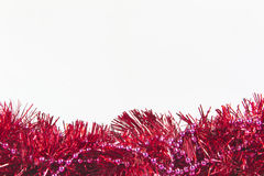 Struttura variopinta della decorazione di natale della ghirlanda isolata Immagine Stock
