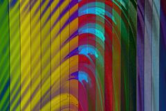 Struttura variopinta della parete, modello astratto, fondo moderno dell'onda e geometrico ondulato di strato di sovrapposizione fotografie stock libere da diritti