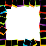 Struttura variopinta della polaroid Fotografia Stock