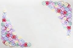 Struttura variopinta e fondo del modello di fiori del ricamo sulla a Fotografia Stock