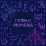 Struttura variopinta o illustrazione del profilo della clonazione umana di vettore royalty illustrazione gratis