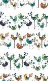 Struttura variopinta senza cuciture con gli uccelli Fotografie Stock Libere da Diritti