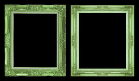 Struttura verde antica della raccolta 2 isolata su fondo nero Immagine Stock Libera da Diritti