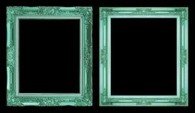 Struttura verde antica della raccolta 2 isolata su fondo nero, c Fotografia Stock Libera da Diritti