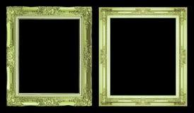 Struttura verde antica della raccolta 2 isolata su fondo nero, c Immagini Stock Libere da Diritti
