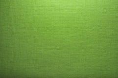 Struttura verde chiaro della tela di canapa Immagini Stock