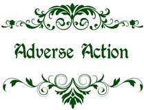 Struttura verde con il testo AVVERSO di AZIONE royalty illustrazione gratis
