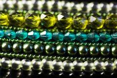 Struttura verde dei monili Immagini Stock