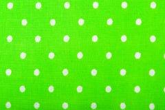 Struttura verde del tessuto di cotone Fotografie Stock Libere da Diritti