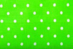 Struttura verde del tessuto di cotone Immagine Stock