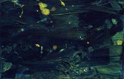 Struttura verde della pittura con i colpi e i tounches della spazzola Fondo artistico dell'olio Contesto orizzontale Immagini Stock Libere da Diritti