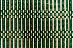 Struttura verde di bambù del fondo della stuoia Immagini Stock