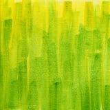 Struttura verde e gialla dell'acquerello del grunge fotografie stock libere da diritti