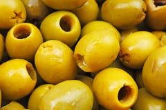 Struttura verde oliva Olive come fondo Olive verdi brillanti Struttura verde oliva del modello della carta da parati Fotografie Stock