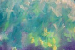 struttura verde smeraldo astratta della pittura ad olio su tela, arte del fondo fotografie stock libere da diritti