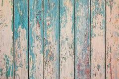 Struttura verticale di legno dei colori del turchese, superficie di legno misera Vecchia struttura per vecchia struttura del fond fotografia stock libera da diritti