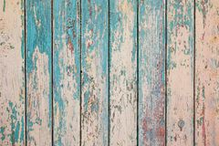 Struttura verticale di legno dei colori del turchese, surfa di legno misero immagine stock libera da diritti