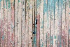 Struttura verticale di legno dei colori del turchese, surfa di legno misero fotografia stock libera da diritti