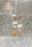 Struttura verticale di vecchia parete della chiesa. Fotografie Stock