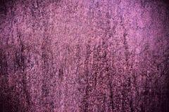 Struttura viola della parete verniciata metallo Immagine Stock Libera da Diritti